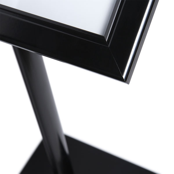 Black Menuboard with 2xA4 Showcase (Corner Detail)