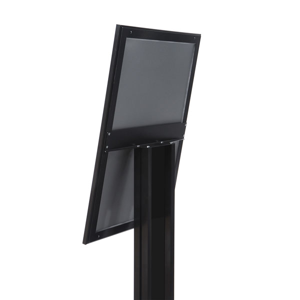 Black Menuboard with 4 × A4 Showcase (Empty)
